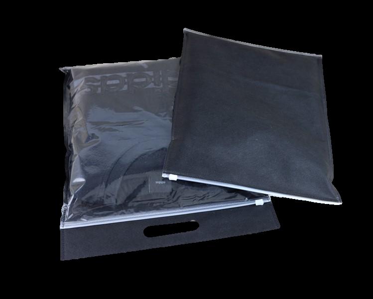 zip bag black